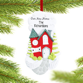 Personalized Our New Home with Cobblestone Walkway Christmas Ornament