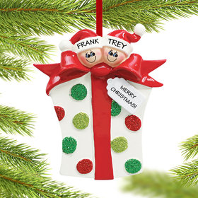 Personalized Sibling Present Christmas Ornament