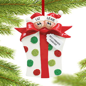 Personalized Friends Present Christmas Ornament