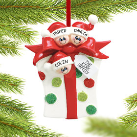 Personalized Present 3 Christmas Ornament