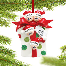 Personalized Present 4 Christmas Ornament