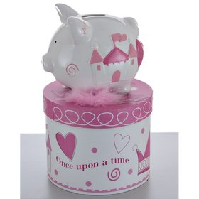 Personalized Mini Princess Piggy Bank Christmas Ornament