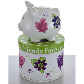 Personalized Mini Best Friends Forever Piggy Bank Christmas Ornament