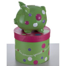 Personalized Mini Someone Special Piggy Bank Christmas Ornament