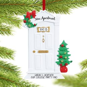Personalized New Apartment Christmas Ornament