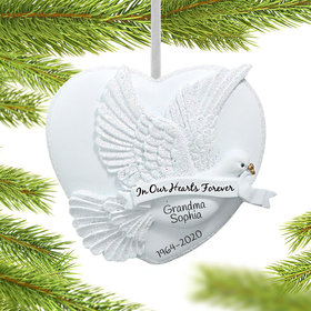 Personalized In Our Hearts Forever Christmas Ornament