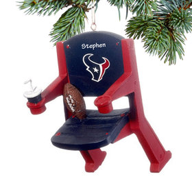 Personalized Houston Texans Stadium Seat Christmas Ornament