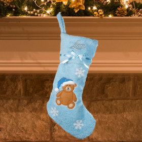 Personalized Boy Baby's First Christmas Personalized Christmas Stocking