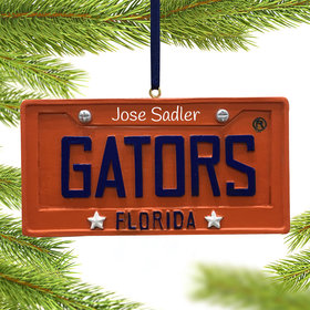 Personalized Florida Gators License Plate Christmas Ornament