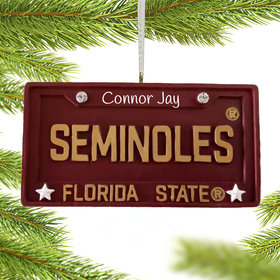 Personalized Florida State License Plate Christmas Ornament