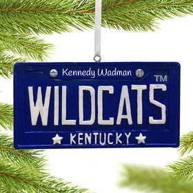 Personalized Kentucky Wildcats License Plate Christmas Ornament
