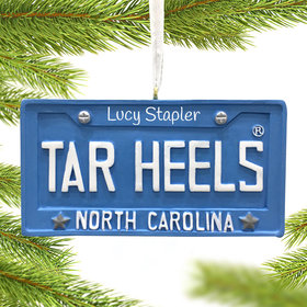 Personalized North Carolina Tar Heels Thristmas Ornament