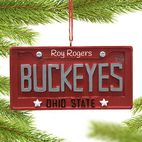 Personalized Ohio State Buckeyes Shristmas Ornament