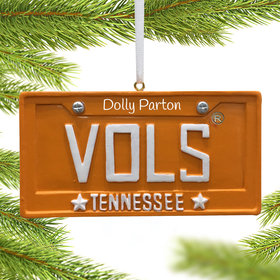 Personalized Tennessee Volunteers License Plate Christmas Ornament