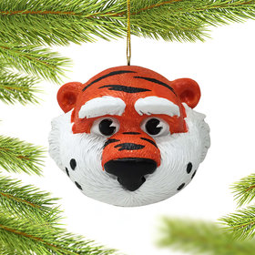 Personalized Auburn Mascot Head Christmas Ornament