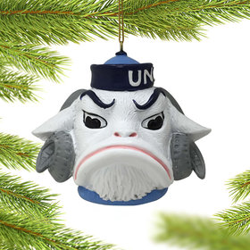 Personalized UNC Mascot Head Christmas Ornament