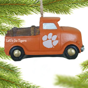 Personalized Clemson Tigers Truck Christmas Ornament