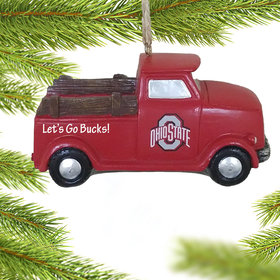 Personalized Ohio State Buckeyes Truck Christmas Ornament