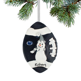 Personalized Penn State Football Snowman Christmas Ornament