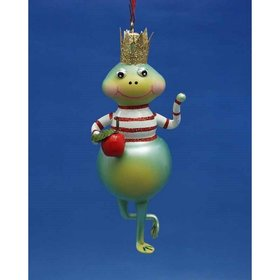 Personalized Frog With Striped T-Shirt Christmas Ornament
