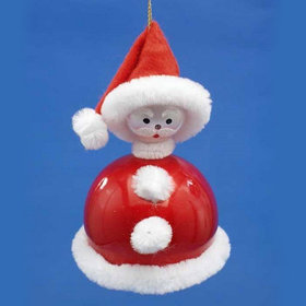 Round Santa Christmas Ornament