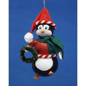 Penguin with Red Jacket Christmas Ornament