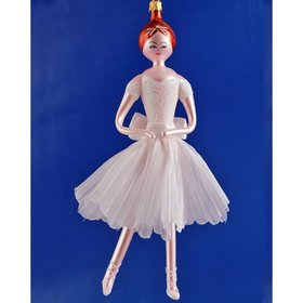 Elegant Ballerina (White) Christmas Ornament
