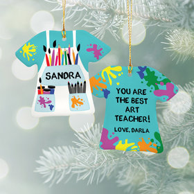 Personalized Best Art Teacher Christmas Ornament
