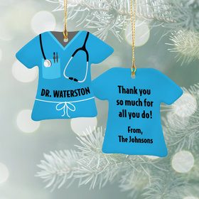 Personalized Best Doctor/Nurse Christmas Ornament