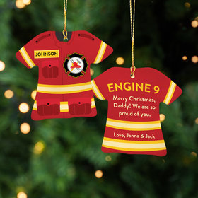 Personalized Best Firefighter Christmas Ornament