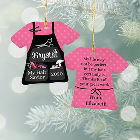 Personalized Best Hair Dresser Christmas Ornament