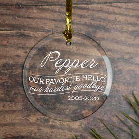 Personalized Our Favorite Hello - Cat Christmas Ornament