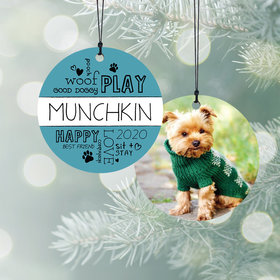 Personalized Pet Word Play - Pink Christmas Ornament