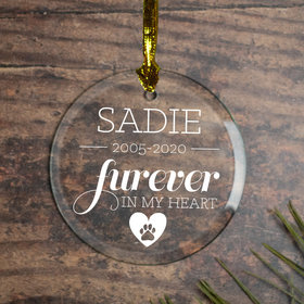 Personalized Furever in My Heart - Dog Christmas Ornament