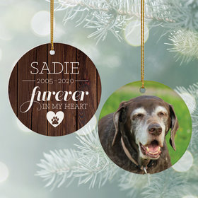 Personalized 'Furever In My Heart' Dog Memorial Christmas Ornament