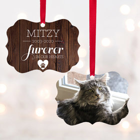 Personalized Furever in Our Heart - Cat Christmas Ornament