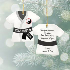 Personalized Karate Shirt - Black Christmas Ornament