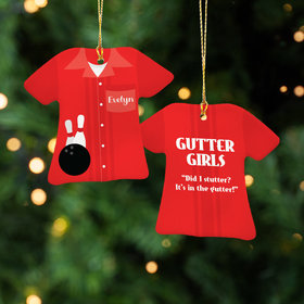 Personalized Bowling Shirt Christmas Ornament