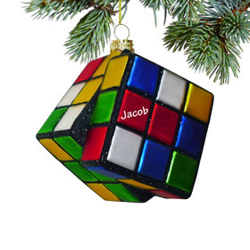 Personalized Rubik's Cube Christmas Ornament