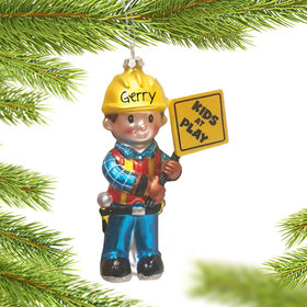 Personalized Bob the Builder Christmas Ornament