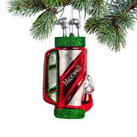 Personalized Golfbag Christmas Ornament