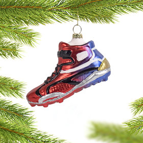 Personalized Football Shoe Christmas Ornament