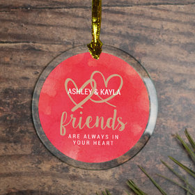 Personalized Friendship Christmas Ornament
