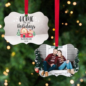 Personalized Home for the Holidays Christmas Ornament