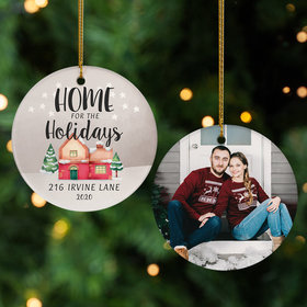 Personalized Home For the Holidays Photo Christmas Ornament