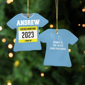 Personalized Runner - Purple Christmas Ornament