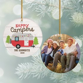 Personalized Happy Camper Ornament