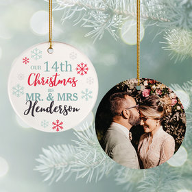 Personalized Snowflake Anniversary Christmas Ornament