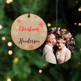 Personalized Anniversary Snowflake Christmas Ornament