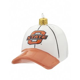 Personalized Oklahoma State University Baseball Hat Christmas Ornament